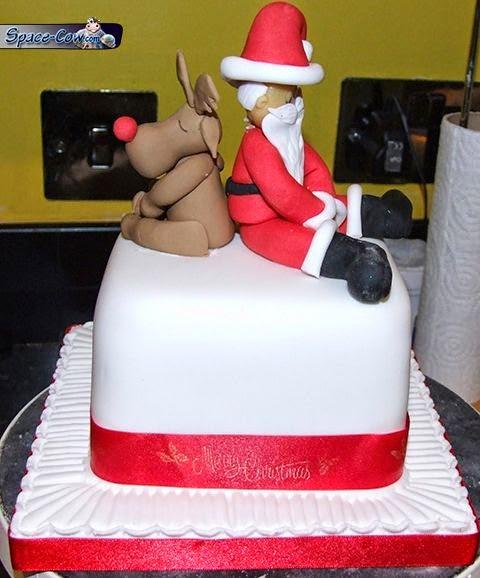 funny Santa cake picture
