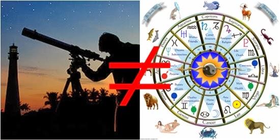 Astronomi dan Astronomi Tidak Saling Berhubungan
