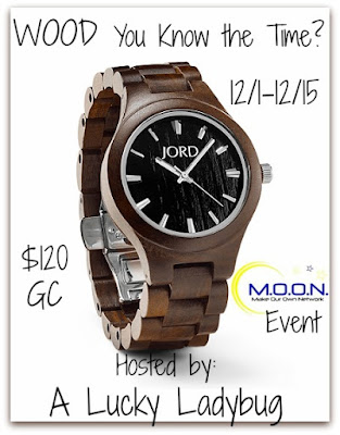 Enter the WOOD You Know the Time? Giveaway. Ends 12/15