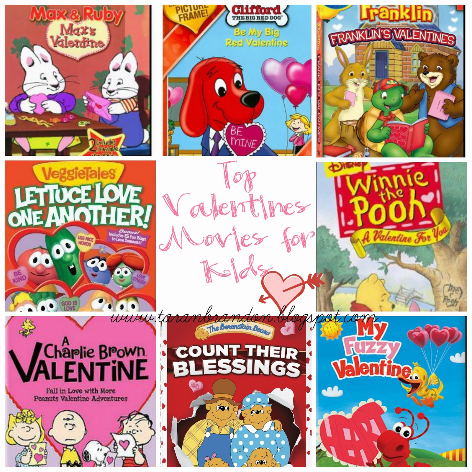 Franklin, Franklinu0027s Valentines//4.Veggie Tales, Lettuce Love One  Another//5.Winnie The Pooh, A Valentine For You//6. A Charlie Brown  Valentine//7.