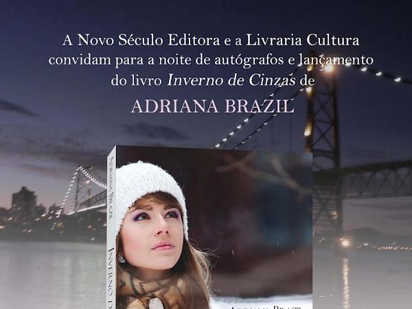 Noite de autógrafos de Inverno de Cinzas, Adriana Brazil e Novo Século no Rio de Janeiro