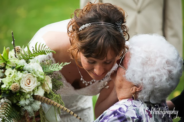 a bride and her grandmother