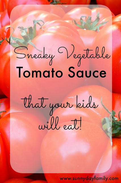 Add vegetables to store bought tomato sauce for a healthy meal that your kids will love!