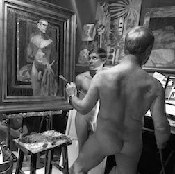 NAKED MAN PAINTING LIVE