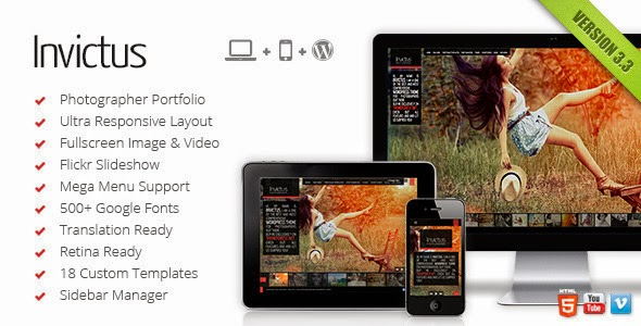 Invictus A Premium Photographer Portfolio Theme Version 2.6.31 free