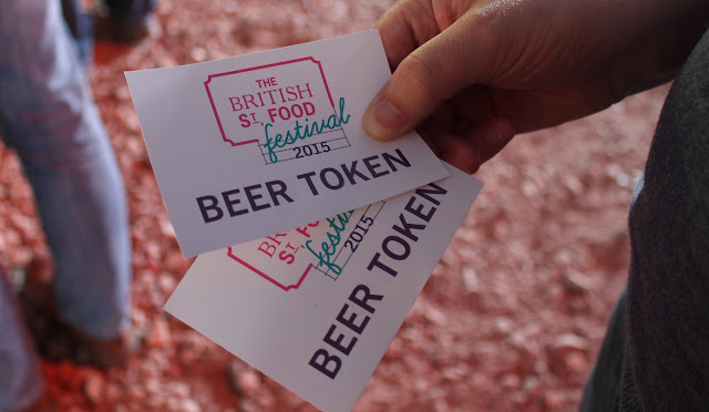 The British Street Food Festival Beer tokens