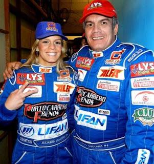 Alejandra Baigorria junto a su padre, el piloto Sergio Baigorria