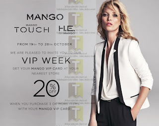 MANGO VIP Week Discount Offer 2012