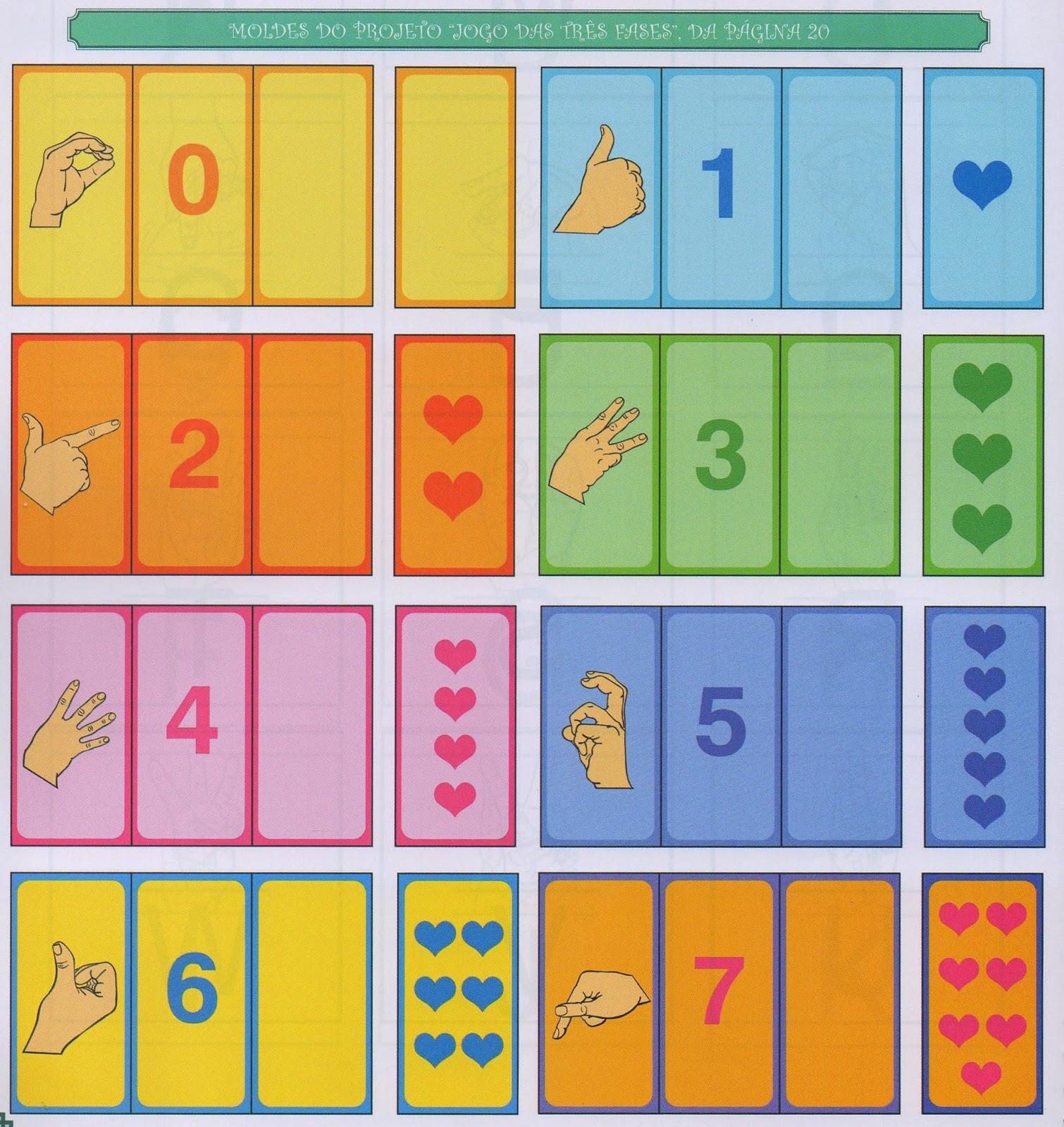 Idéias Para ensinar Surdos: Jogo Números sinal quantidade em Libras #B46D17 1510 1600