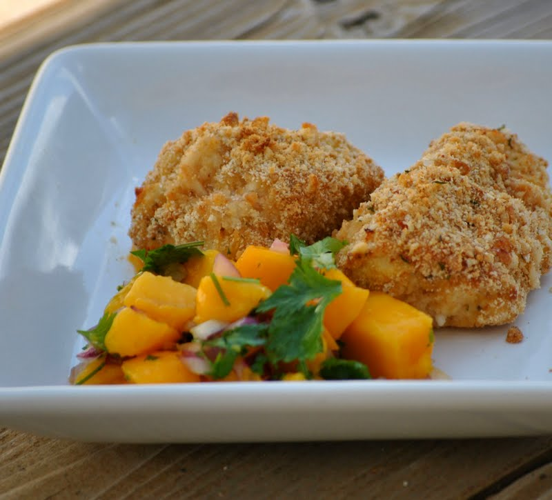 The Farm Girl Recipes: Macadamia Crusted Chicken with Mango Salsa