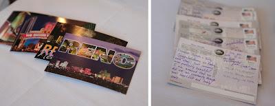Alternative postcard guest book