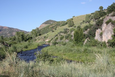 river winding down Diamond Fork Canyon in Utah