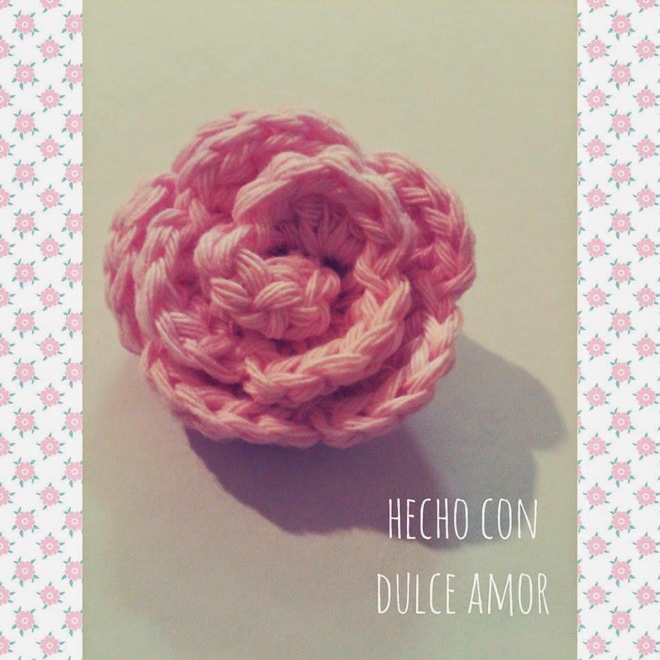 Hecho Con Dulce Amor: Flor a Crochet Facil