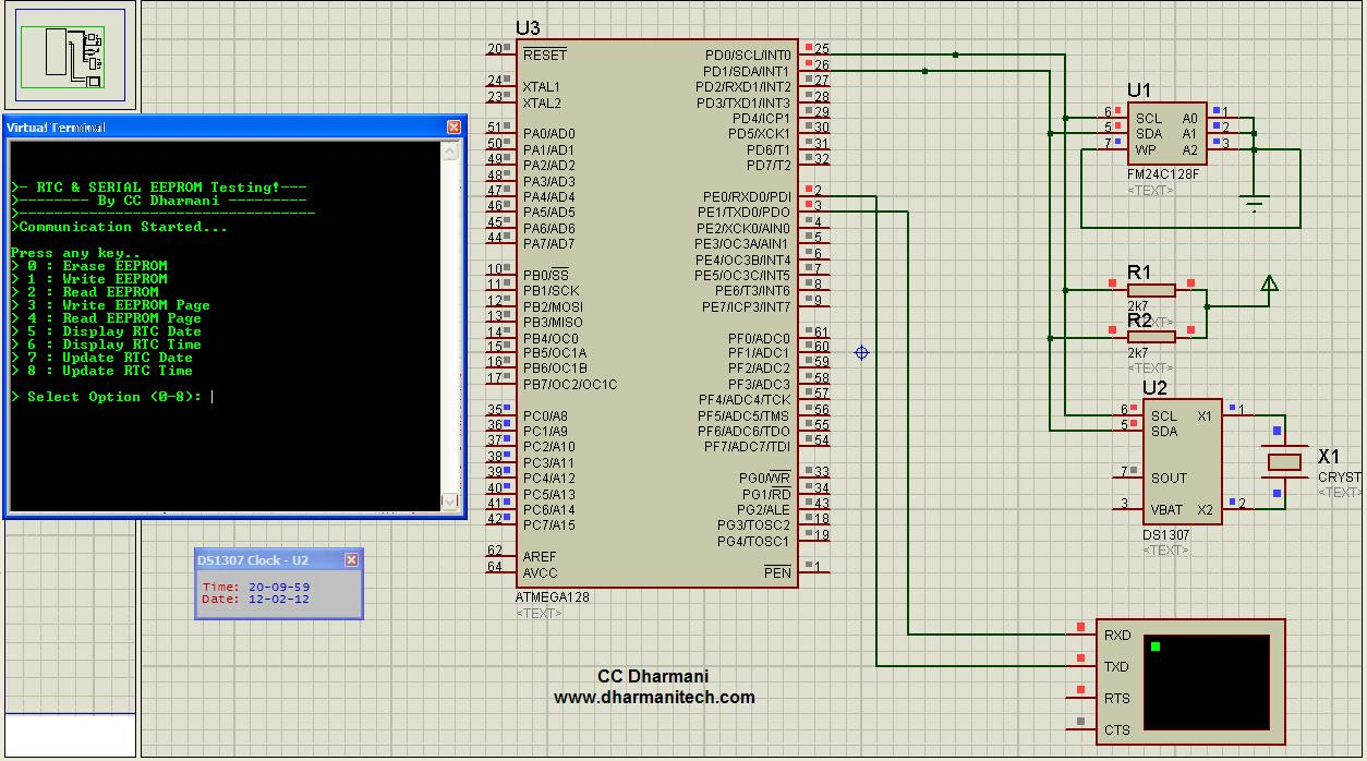 Design with microcontrollers interfacing rtc serial eeprom here is running simulation on proteus isis click on image to enlarge it baditri Images