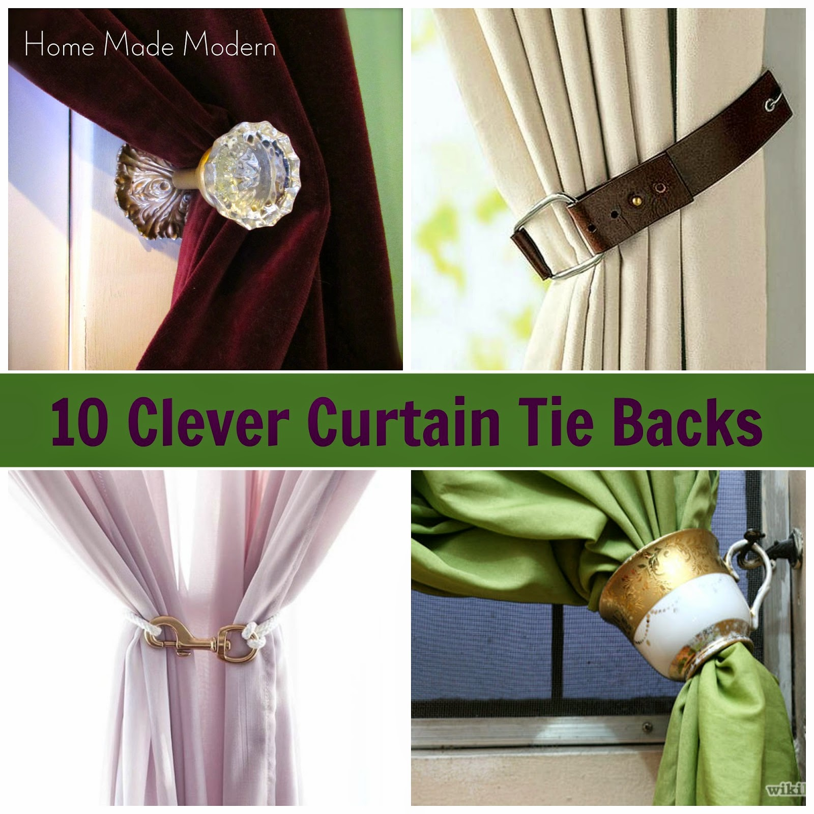 Homemade Curtain Tie Back Ideas