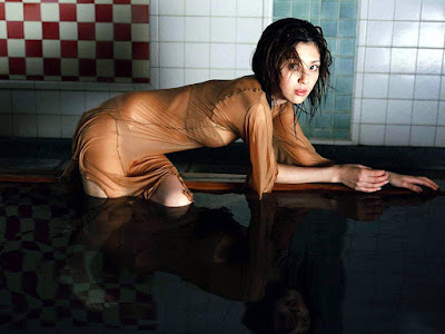 Japanese star Rei Yoshii hot on wet Dress Wallpapers