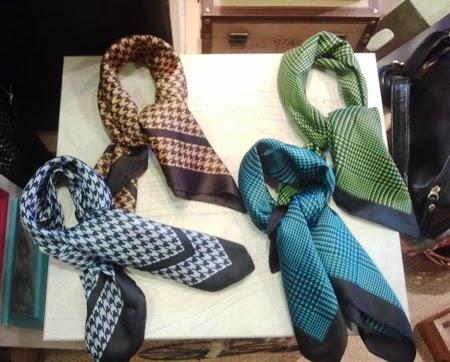 Pañuelitos principe de gales y pata de gallo, de colores