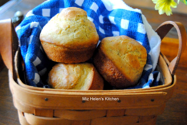 Corn Muffins de Provence at Miz Helen's Country Cottage