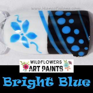 Wildflowers Nail Art Paint Bright Blue