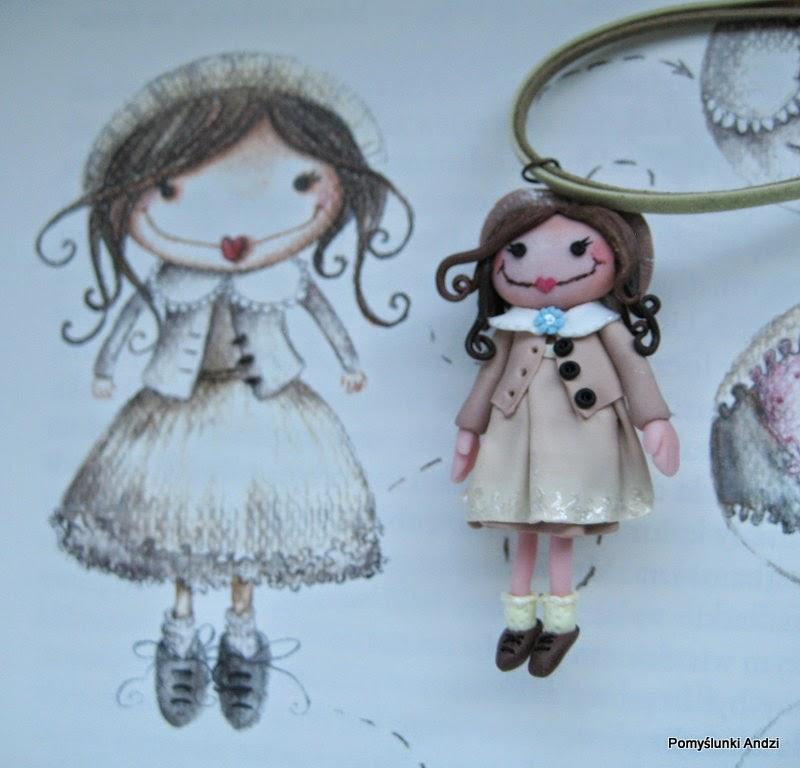 doll, lalka, książka, tekla, krystyna śmigielska, wisiorek, dla dzieci,
