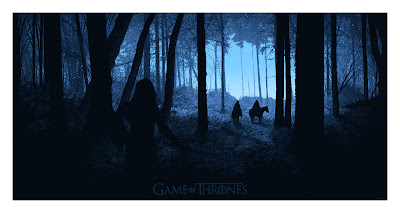 San Diego Comic-Con 2012 Exclusive Game of Thrones Screen Print Series by Daniel Danger