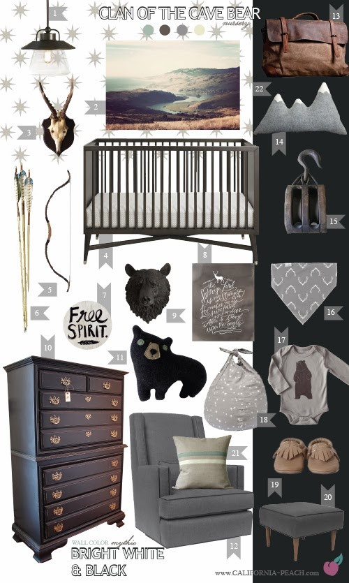 Man Cave Baby Room : California peach clan of the cave bear nursery