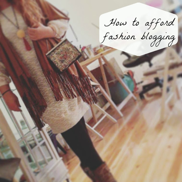 how to afford fahion blogging