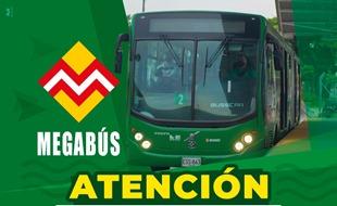 MEGABÚS AJUSTA HORARIO DE SERVICIO