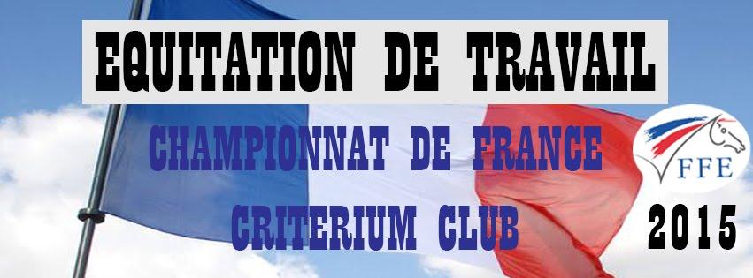 Championnat de France et Critérium Club 2015