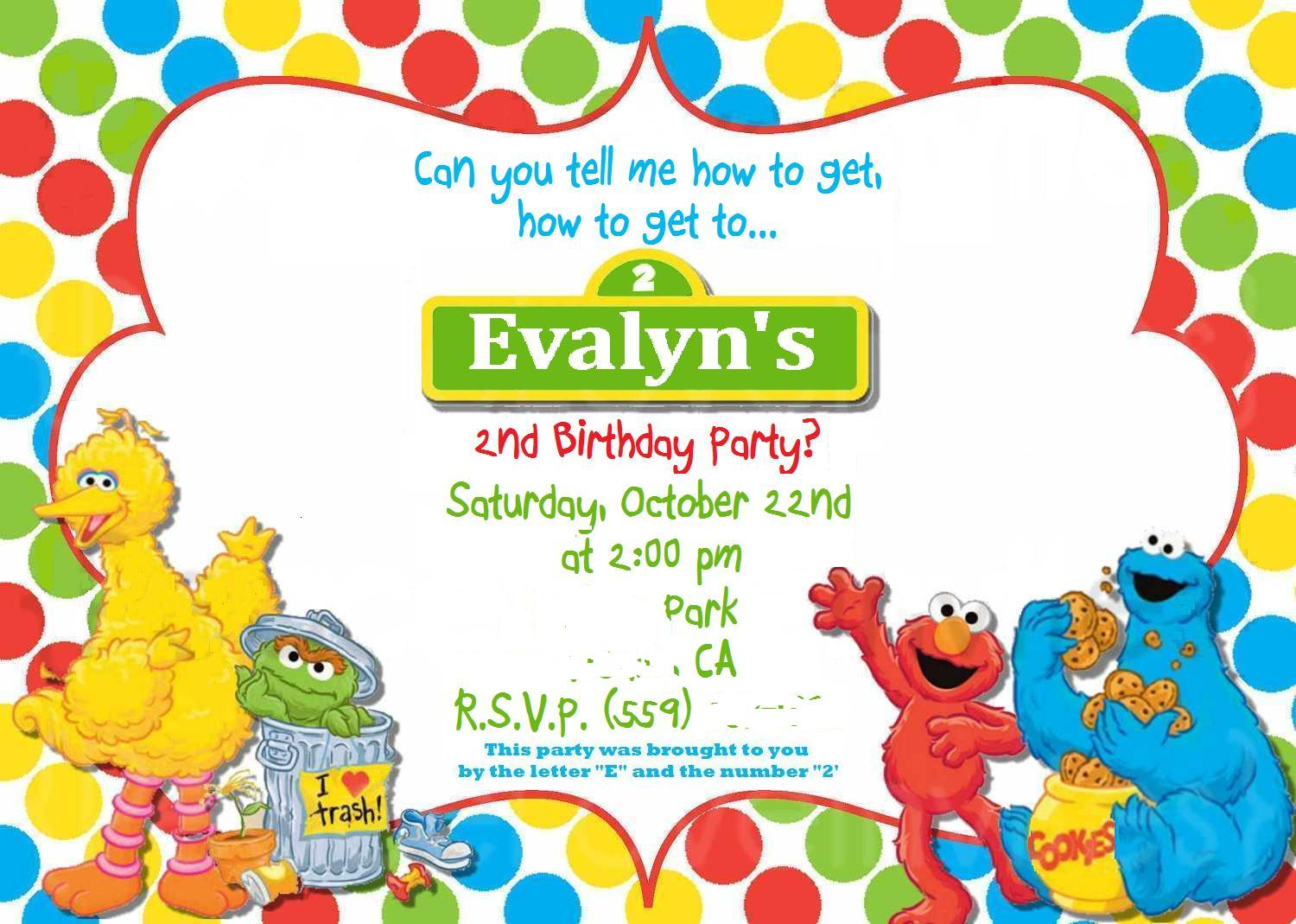 Free Sesame Street Invitation Template with awesome invitations ideas