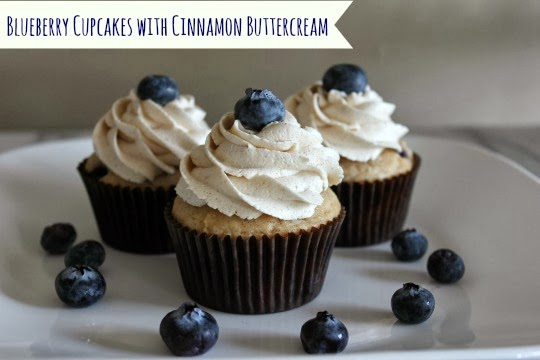 ... My Pink Mixer: Blueberry Cupcakes with Cinnamon Buttercream Frosting