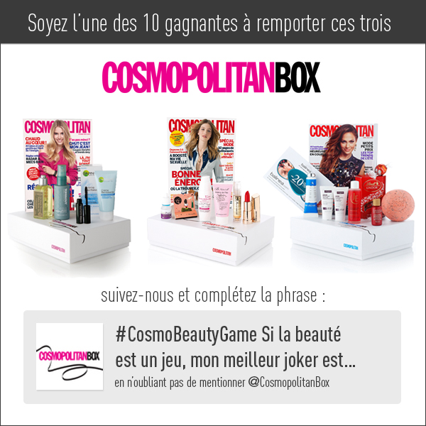 3 CosmopolitanBox à gagner