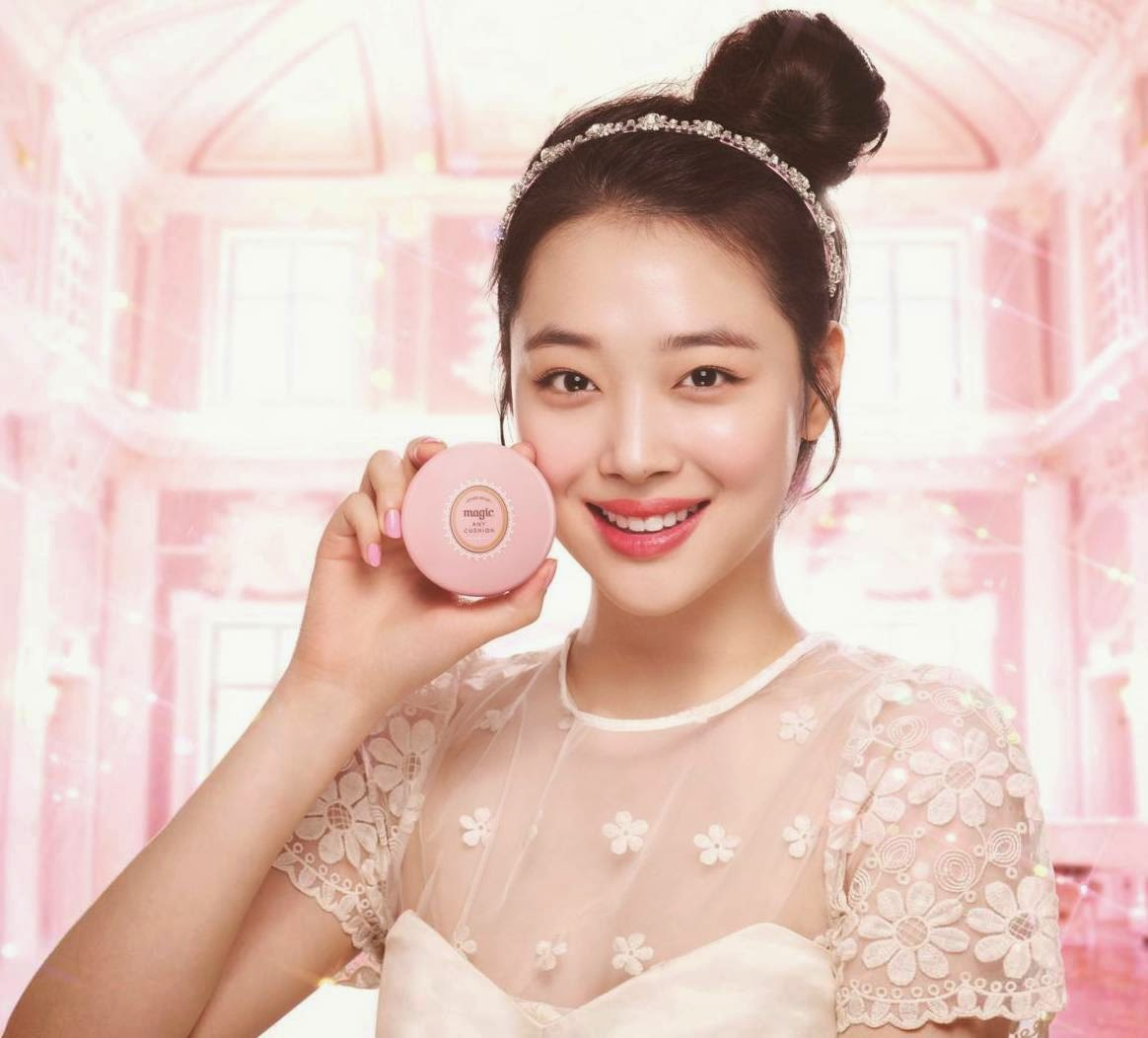 sulli, Etude House Precious Mineral Magic Any Cushion, Etude House, Precious Mineral, Magic Any Cushion, makeup, sulli, k beauty, k makeup, korean makeup trend, pink, mint & peach cushion colours, 4 different types of base makeup look