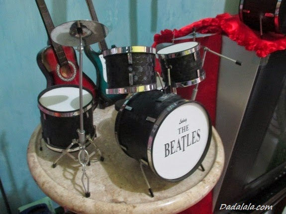 Jual Miniatur Drum The Beatles Hitam Polos