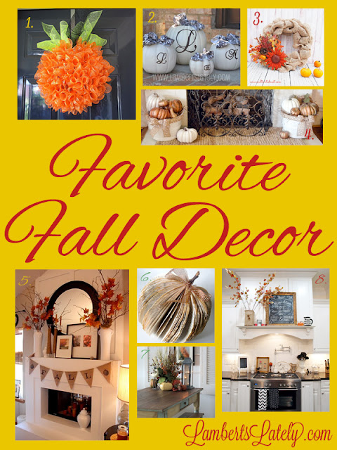 Check out these pieces of fall decor inspiration! http://www.lambertslately.com/2013/09/favorites-of-fall-decor.html