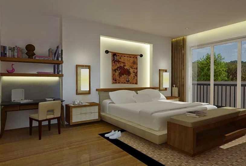 warna cat ruang kamar tidur abu abu