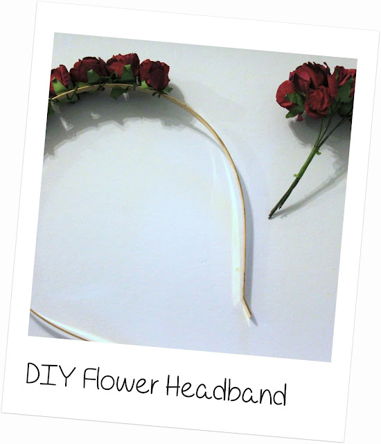 Easy DIY flower headband
