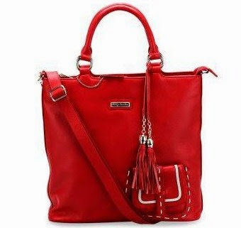 Phillipe Jourdan Imma Top Handle - Warna Merah