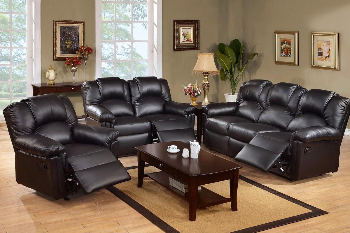 canapé inclinable cuir noir