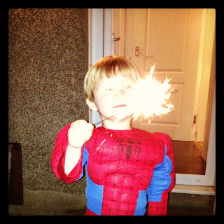 Sparklers and Spiderman