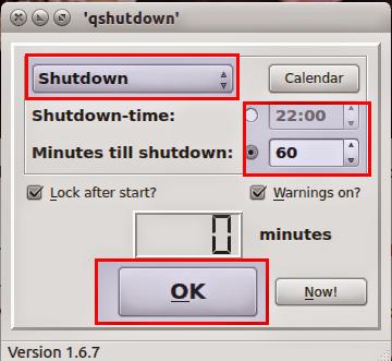 qShutdown no Ubuntu