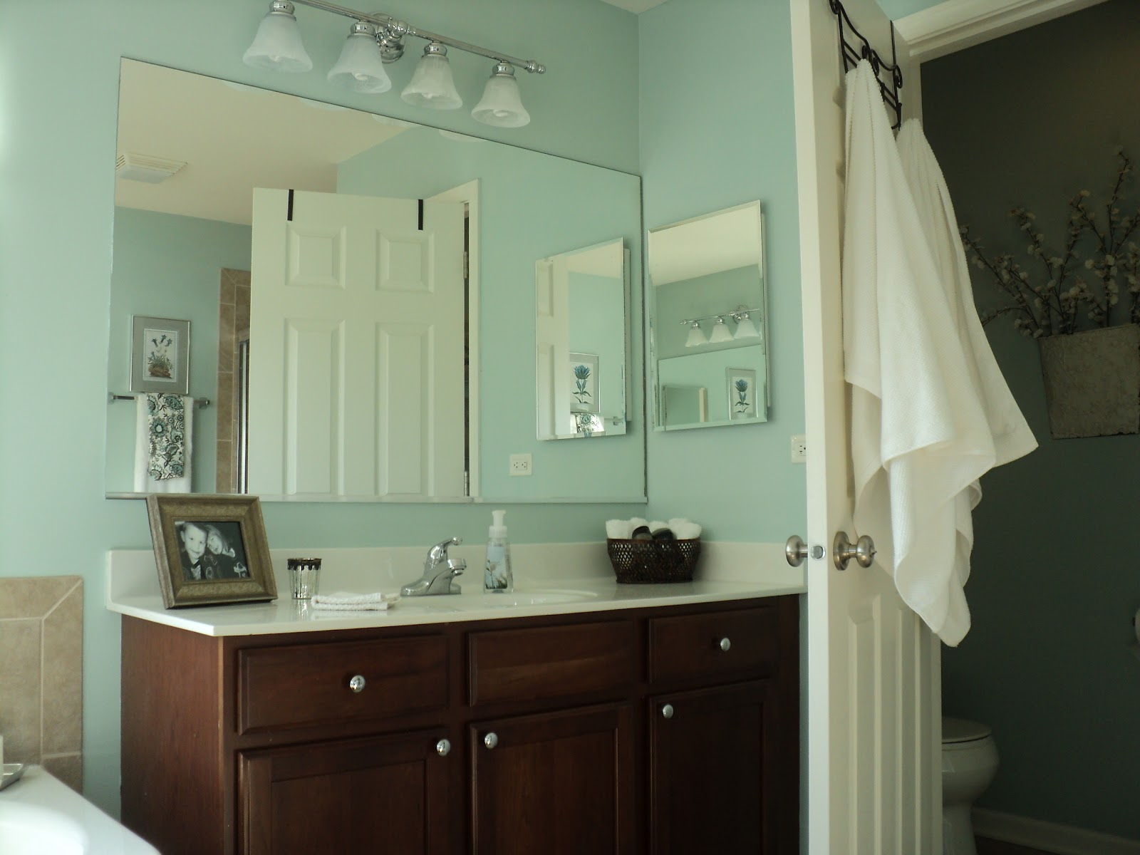 Loving Blue In Our Master Bathroom!
