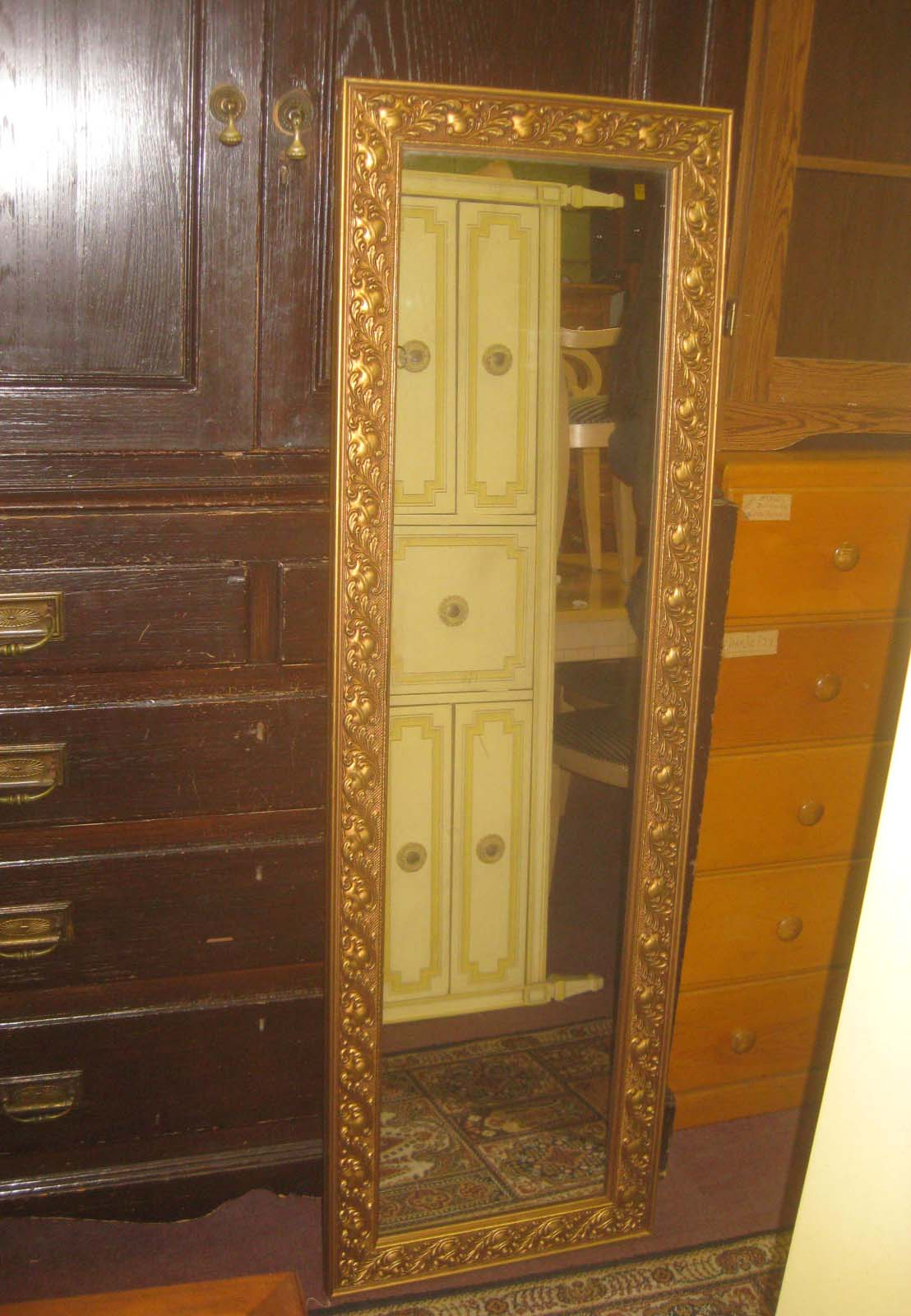 Uhuru furniture collectibles sold long skinny mirror for Long skinny mirror