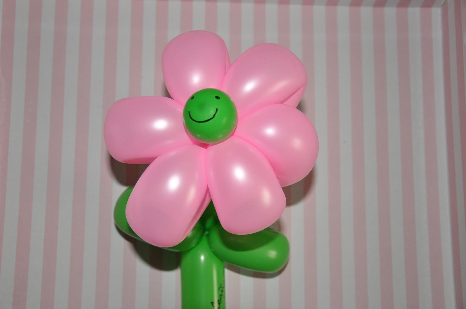 flores con globos para decoracin 2 - Como Hacer Flores Con Globos