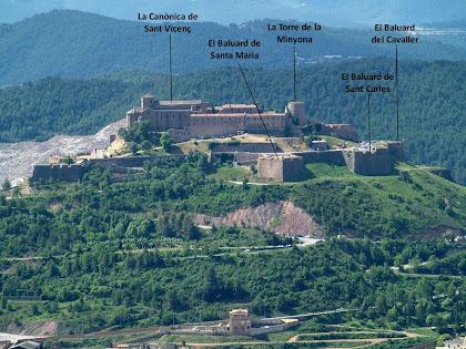 El Castell de Cardona des de la Costa de Segalers