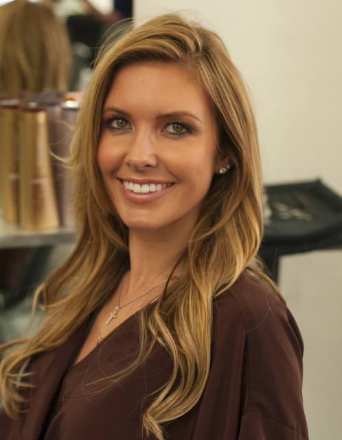 Audrina Patridge gets hair done at salon