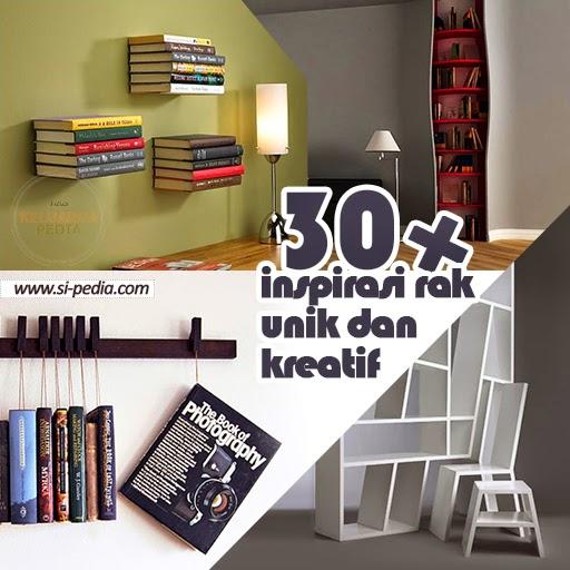 30+ Inspirasi Desain Rak Buku Unik dan Kreatif