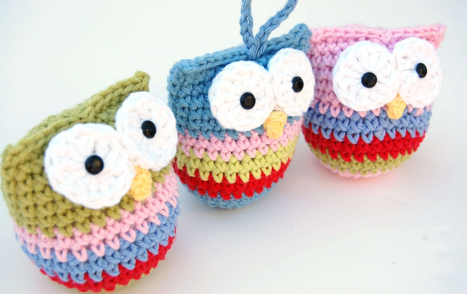 Crochet Tutorial Owl : Crochet Owl Ornament Pattern