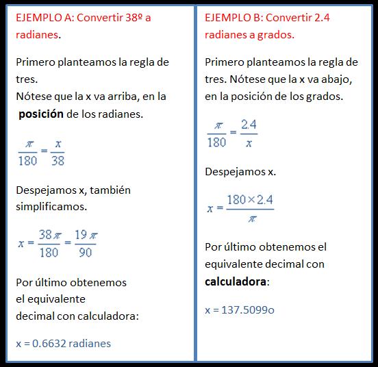 Trigonometria y geometria analitica grados y radianes for Cocinar a 60 grados