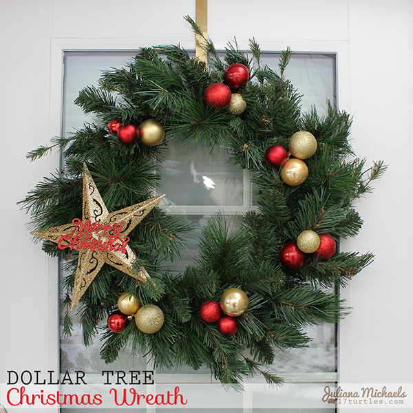 Dollar Tree Christmas Wreath by Juliana Michaels